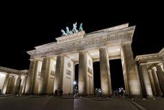 Brandenburg Gate. Berlin. Brandenburg Gate by night, Berlin in Germany The Brandenburg Gate (German: Brandenburger Tor) is a former city gate and one of the main stock photos