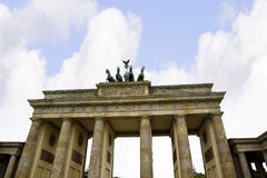 Brandenburg Gate is Berlin`s most famous landmark. A symbol of Berlin and German division during the Cold War, Stock Images