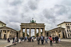 Brandenburg Gate is Berlin`s most famous landmark. A symbol of Berlin and German division during the Cold War, Royalty Free Stock Photos