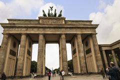 Brandenburg Gate is Berlin`s most famous landmark. A symbol of Berlin and German division during the Cold War, Stock Image