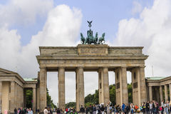 Brandenburg Gate is Berlin`s most famous landmark. A symbol of Berlin and German division during the Cold War, Royalty Free Stock Image