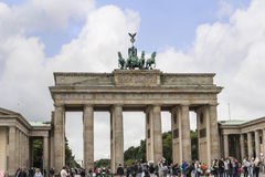 Brandenburg Gate is Berlin`s most famous landmark. A symbol of Berlin and German division during the Cold War, Royalty Free Stock Images