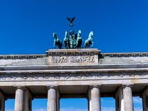 The Brandenburg Gate is Berlin`s most famous landmark. A symbol of Berlin and German division during the Cold War Stock Images