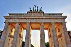 Brandenburg Gate, Berlin. Berlin's Brandenburg Gate. Sunny sky stock photos