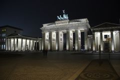 The Brandenburg Gate in Berlin stock image