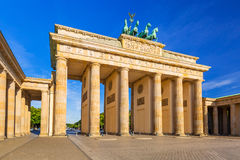 The Brandenburg Gate in Berlin. At sunrise, Germany Royalty Free Stock Photography