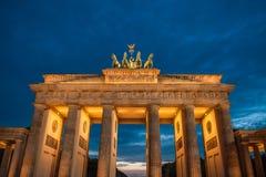 Berlin Brandenburg Gate. Sunset over Brandenburg Gate in  Berlin  Germany Stock Photography