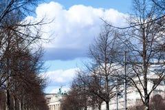 Brandenburg Gate in Berlin. Brandenburg Gate and tree, in Berlin, Germany stock photos