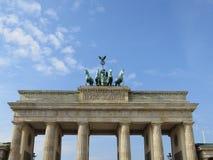 Brandenburg Gate in Berlin. A very nice symmetrically shot photograph of the Brandenburg Gate in Berlin, Germany royalty free stock photo