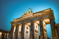 Brandenburg gate Berlin stock photo