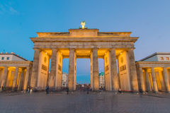 Brandenburg Gate at Blue Hour Royalty Free Stock Photography