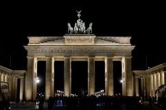 The Brandenburg Gate Brandenburger Tor, Berlin, Gemany. BERLIN, GERMANY - 2 APRIL 2019: Once the symbol of a divided Germany, the neoclassical Brandenburg Gate royalty free stock photography