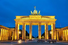 Brandenburg gate in Berlin, Germany. Brandenburg gate Brandenburger Tor in Berlin, Germany royalty free stock image