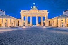 Brandenburg gate or Brandenburger Tor in Berlin, Germany at nigh royalty free stock photography