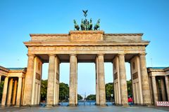 Brandenburg gate in Berlin, Germany. Brandenburg gate Brandenburger Tor in Berlin, Germany at sunrise Stock Images