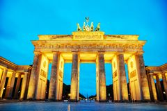 Brandenburg gate in Berlin, Germany. Brandenburg gate Brandenburger Tor in Berlin, Germany at sunrise Stock Photo