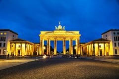 Brandenburg gate in Berlin, Germany. Brandenburg gate Brandenburger Tor in Berlin, Germany at sunrise Stock Image