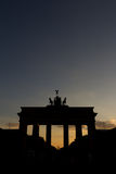 Brandenburg gate (Brandenburger Tor) during sunset Royalty Free Stock Images