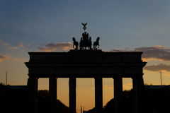 Brandenburg gate (Brandenburger Tor) during sunset Stock Image