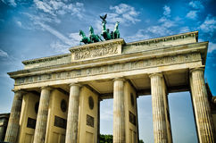 Brandenburg gate. In the center of berlin stock photography