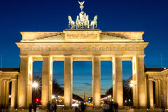 The Brandenburg Gate at dawn Royalty Free Stock Image