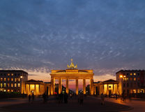 Brandenburg Gate at Dusk Stock Photography