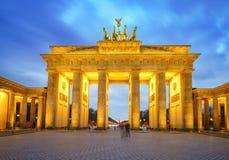 Brandenburg gate at dusk. Berlin Stock Images