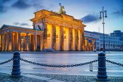 Brandenburg gate at dusk Stock Photo