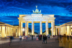 Brandenburg gate at dusk Royalty Free Stock Image