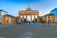Brandenburg gate at evening, Berlin, Germany. Royalty Free Stock Image
