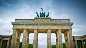 Brandenburg gate front Stock Photos