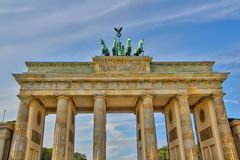 Brandenburger Tor Berlin, east side stock photos