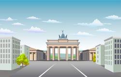 Brandenburg Gate of Germany. Stock Photo