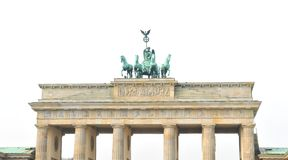 Brandenburg Gate isolated on white stock images