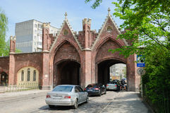 The Brandenburg Gate. Kaliningrad Stock Photo