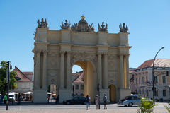 Brandenburg Gate and Luise square Royalty Free Stock Photo