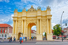 Brandenburg Gate on Luisenplatz in Potsdam in Germany Royalty Free Stock Images