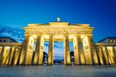 Brandenburg Gate. Morning in Berlin, Germany royalty free stock photography
