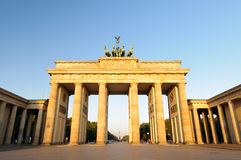 Brandenburg Gate at morning light Stock Photo