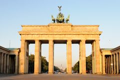 Brandenburg Gate at morning light Royalty Free Stock Image