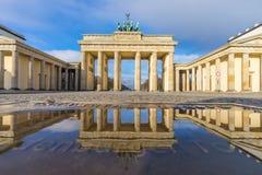 Brandenburg gate in the morning Stock Photography