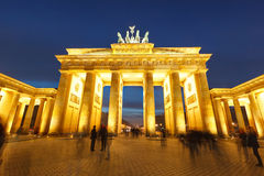 Brandenburg gate at night Royalty Free Stock Photos