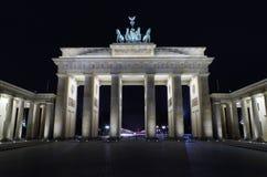 Brandenburg gate at night Royalty Free Stock Images