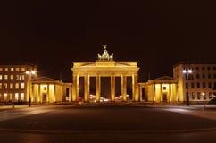 Brandenburg gate at night Royalty Free Stock Image
