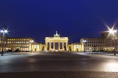 Brandenburg gate at night Stock Photos