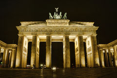 Brandenburg gate night in Berlin Stock Photo