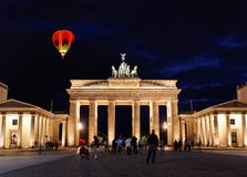 BRANDENBURG GATE at night in Berlin Royalty Free Stock Images