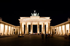 Brandenburg Gate at night Stock Photo