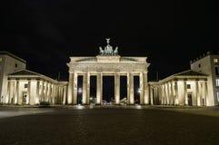 Brandenburg gate at night Stock Photography