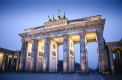 Brandenburg gate at night, Berlin, germany Royalty Free Stock Photography